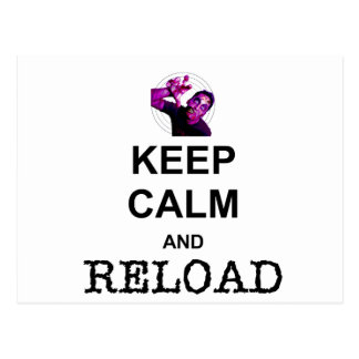 KEEP CALM AND RELOAD POST CARD