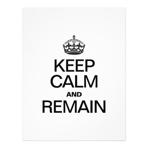 KEEP CALM AND REMAIN PERSONALIZED FLYER