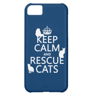 Keep Calm and Rescue Cats (in any color) iPhone 5C Case
