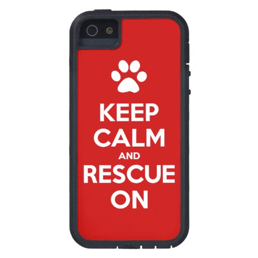 Keep Calm And Rescue On Animal Rescue iPhone 5 Case