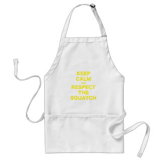 Keep Calm and Respect the Squatch Adult Apron