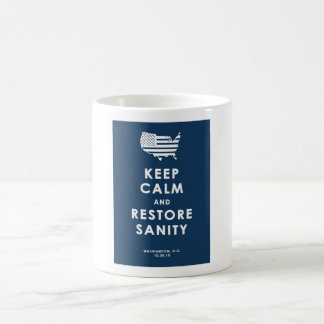 KEEP CALM AND RESTORE SANITY COFFEE MUG