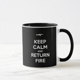 Keep Calm and Return Fire Mug