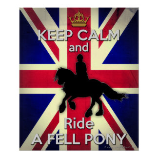 Keep Calm and Ride a Fell Pony 24X20 Poster