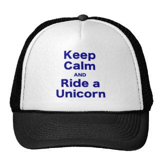 Keep Calm and Ride a Unicorn Mesh Hat