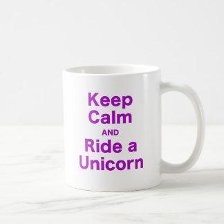 Keep Calm and Ride a Unicorn Coffee Mugs