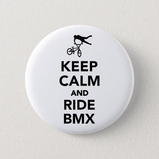 Keep calm and ride BMX 6 Cm Round Badge