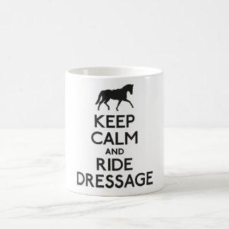 Keep calm and ride dressage coffee mug