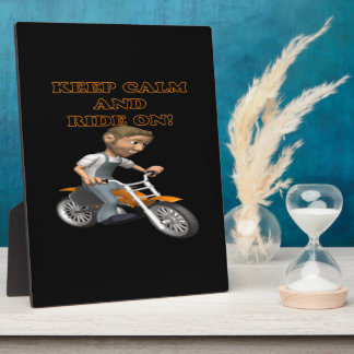 Keep Calm And Ride On 3 Display Plaque