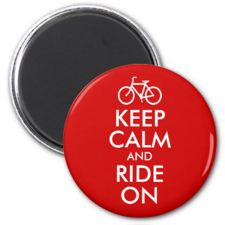 Keep Calm and Ride On 6 Cm Round Magnet