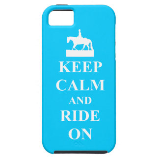 Keep calm and ride on (blue) iPhone 5 covers