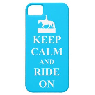 Keep calm and ride on blue iPhone 5 cases