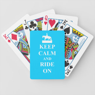 Keep calm and ride on (blue) poker deck