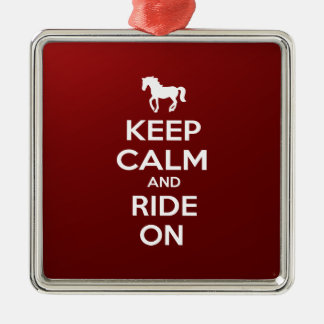 Keep Calm and Ride on Christmas Ornament