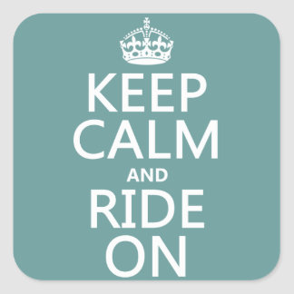 Keep Calm and Ride On customisable Stickers