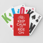 Keep Calm and Ride On Deck Of Cards