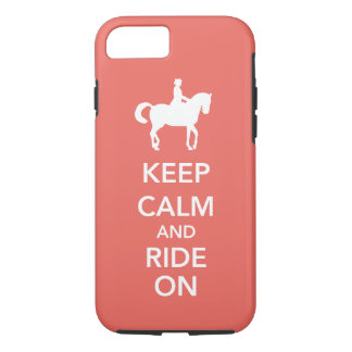 Keep Calm and Ride On Dressage Horse Custom iPhone 7 Case