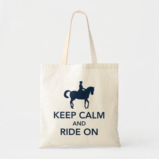 Keep Calm and Ride On Dressage Navy Blue
