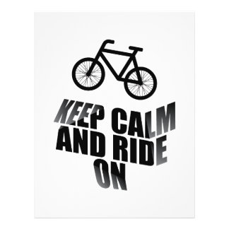 Keep calm and ride on flyer