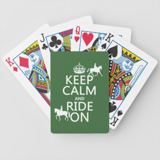 Keep Calm and Ride On - horses, all colours Bicycle Playing Cards