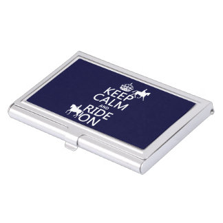 Keep Calm and Ride On - horses, all colours Business Card Holder
