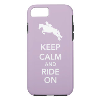 Keep Calm and Ride On Hunter Jumper Horse Custom iPhone 7 Case