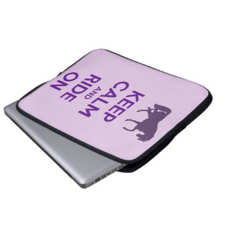 Keep Calm and Ride On Laptop Case Sleeve