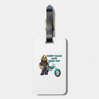 Keep Calm And Ride On Luggage Tag