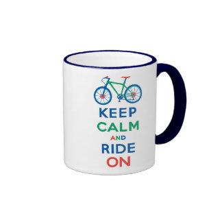 Keep Calm and Ride On mountain bike Coffee Mug