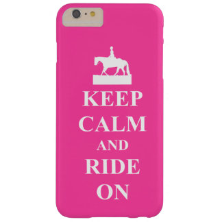 Keep calm and ride on, pink barely there iPhone 6 plus case