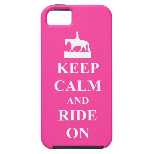Keep calm and ride on, pink iPhone 5