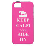 Keep calm and ride on, pink iPhone 5 covers