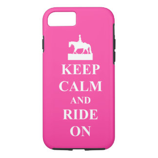 Keep calm and ride on, pink iPhone 8/7 case