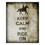 Keep Calm And Ride On Poster