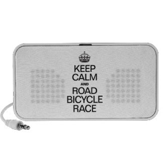 KEEP CALM AND ROAD BICYCLE RACE PORTABLE SPEAKERS