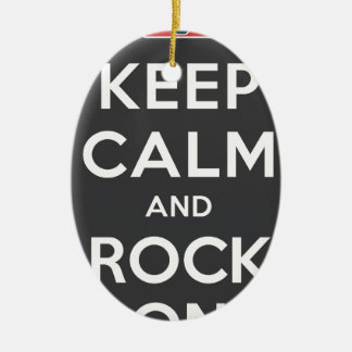 Keep Calm And Rock On Ceramic Oval Decoration