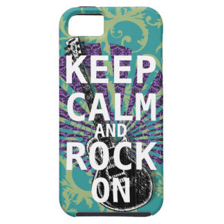 KEEP CALM AND ROCK ON change teal any color Case For The iPhone 5