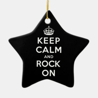Keep Calm and Rock On Christmas Ornament