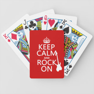 Keep Calm and Rock On (guitar)(any color) Bicycle Playing Cards