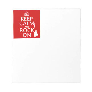 Keep Calm and Rock On (guitar)(any color) Notepad