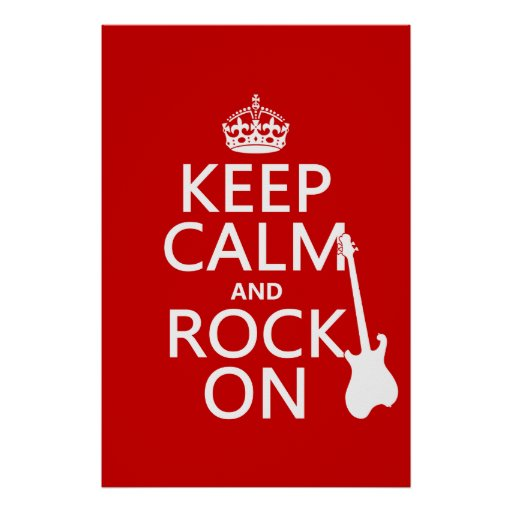Keep Calm and Rock On (guitar)(any color) Posters