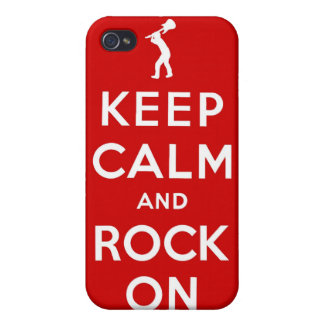 Keep calm and rock on iPhone 4/4S covers