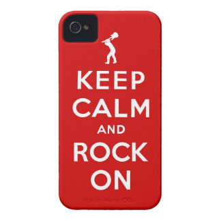 Keep calm and rock on iPhone 4 Case-Mate case
