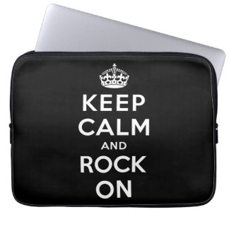 Keep Calm and Rock On Laptop Sleeve