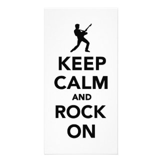 Keep calm and Rock on Personalized Photo Card