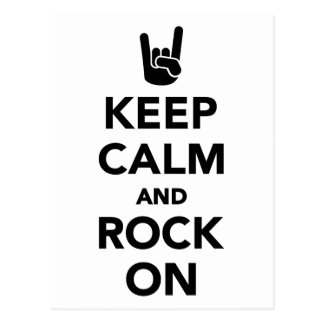 Keep calm and Rock on Postcard