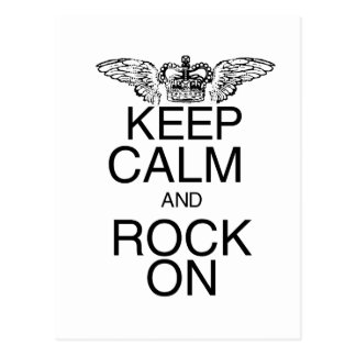 Keep Calm and Rock On Post Cards