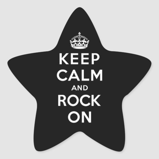 Keep Calm and Rock On Sticker
