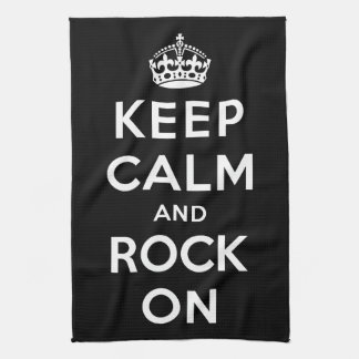 Keep Calm and Rock On Tea Towel