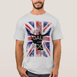 Keep Calm and Rock On UK Flag T-Shirt